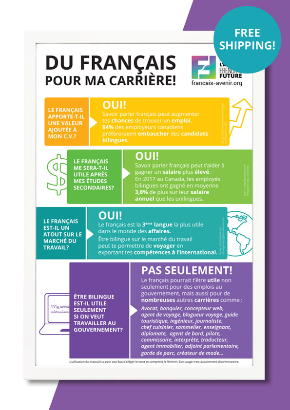 Poster French a career booster
