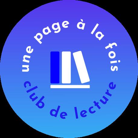 Logo de Une page à la fois, le club de lecture des Jeunes leaders bilingues du Français pour l'avenir