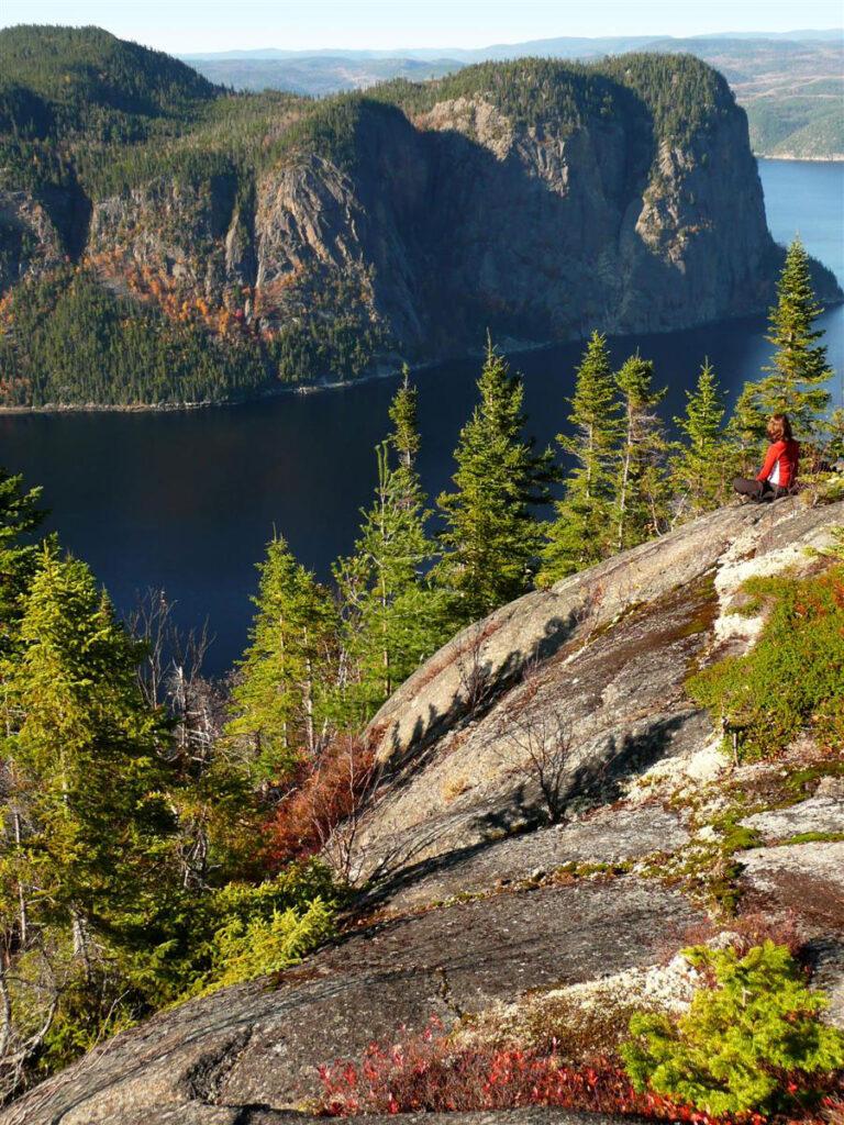 Une vue du fjord du Saguenay