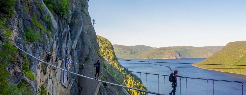 La Via Ferrata du parc national du Fjord-du-Saguenay