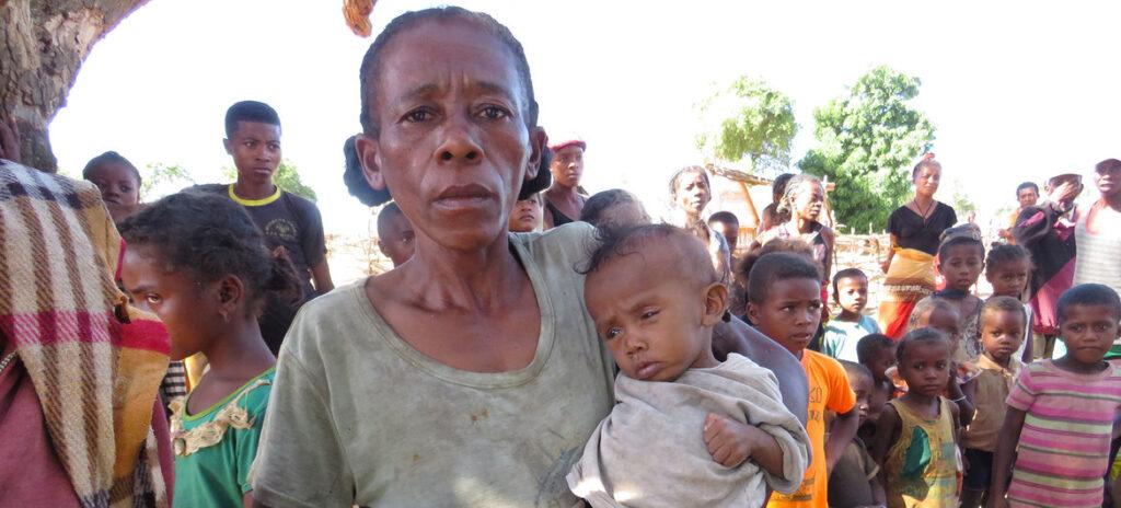 Personnes ayant faim à Madagascar